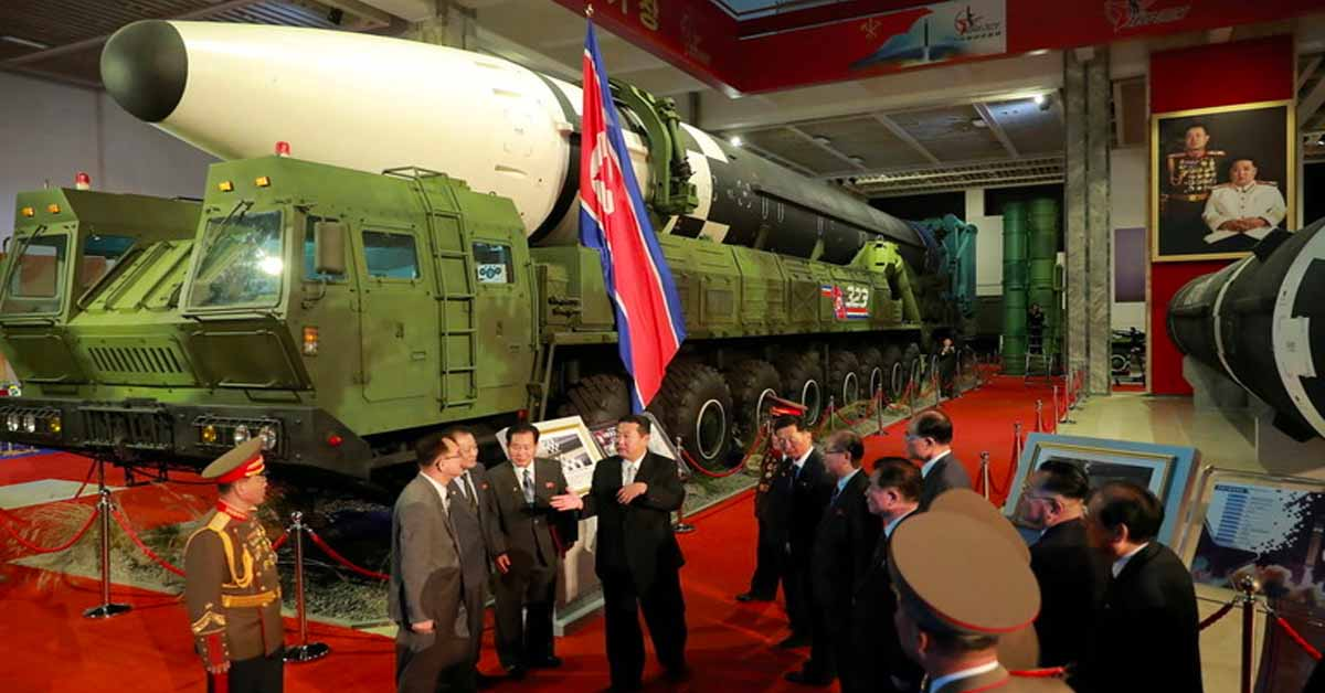 Kim Jong-un touts 'invincible' North Korean forces at Pyongyang arms expo