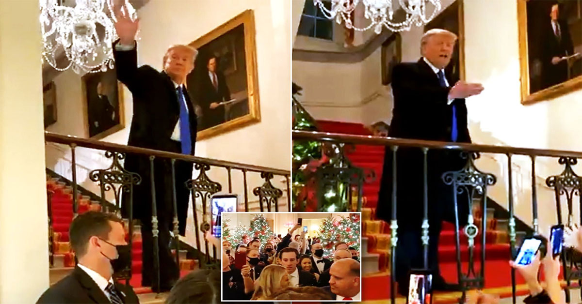Trump teases 2024 run at White House Christmas party