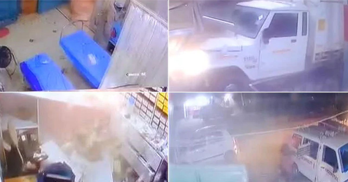 Patient's Enraged Relative Of Rams Truck Into Gurgaon Hospital