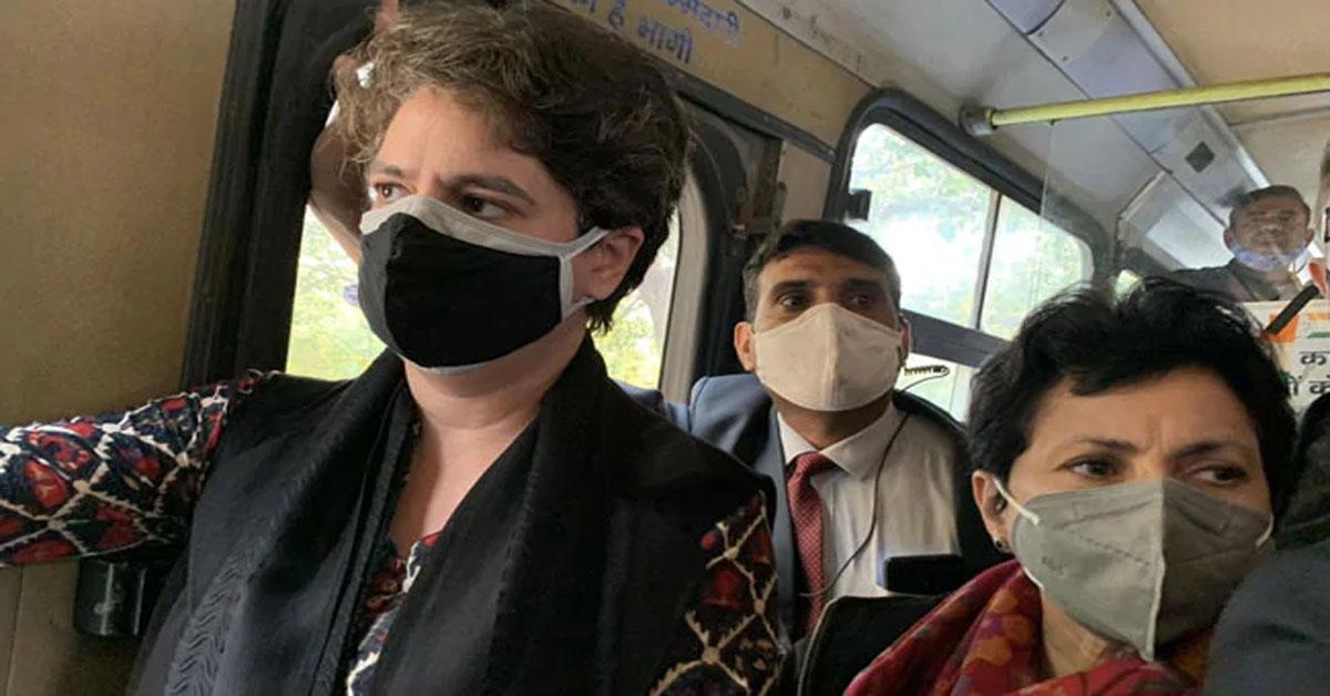 Congress March To President Stopped, Priyanka Gandhi Taken Into Custody
