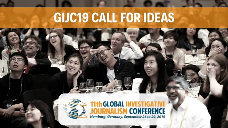 Send in Your Session Idea for GIJC19!