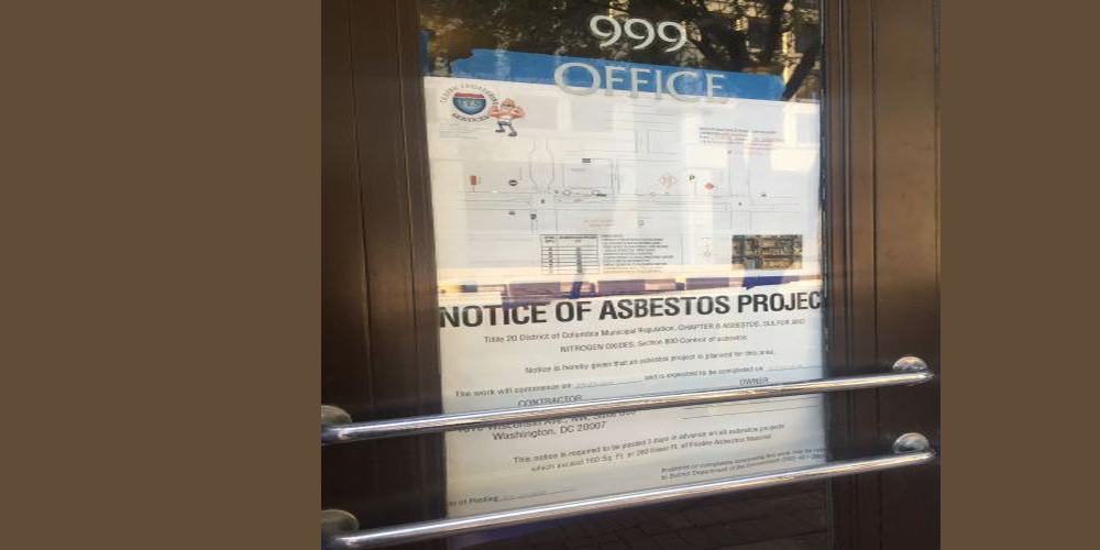 Asbestos concerns arise at the Federal Election Commission