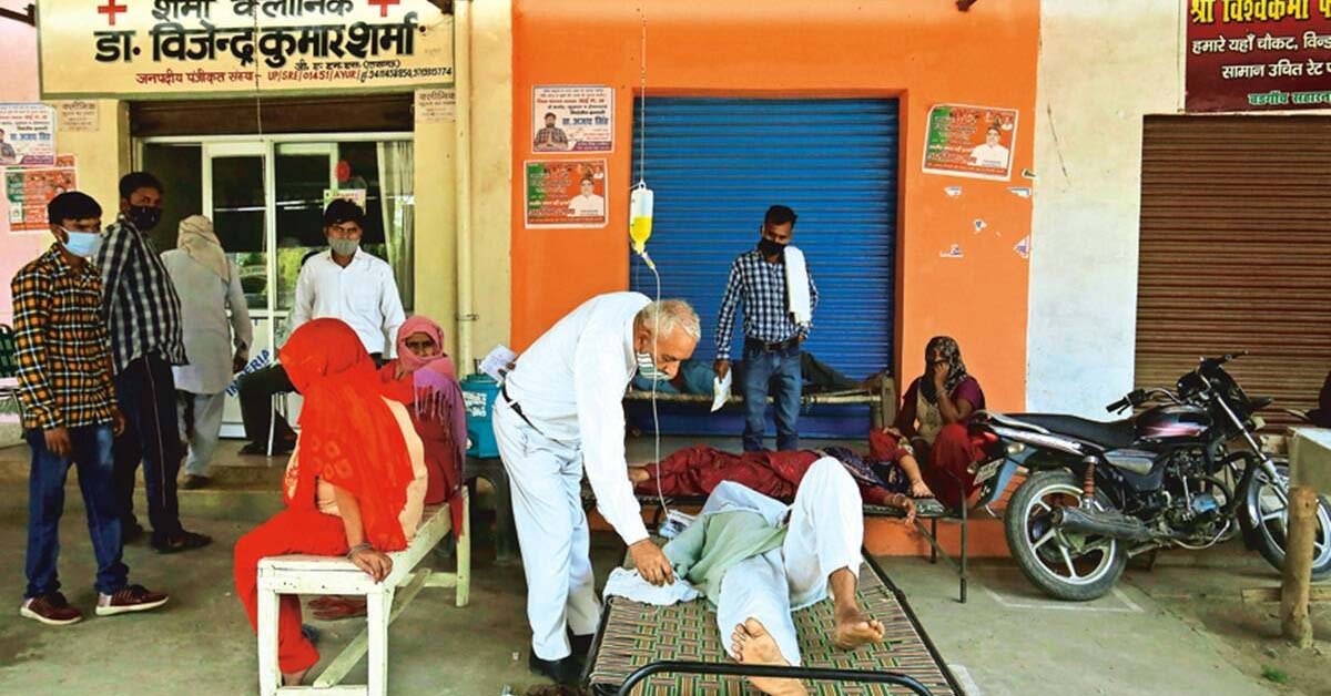 Active caseload thrice last year's peak, a lone doctor struggles to cope with flood of patients in Saharanpur