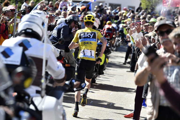 Tour leader Froome sends message of support to Nice victims