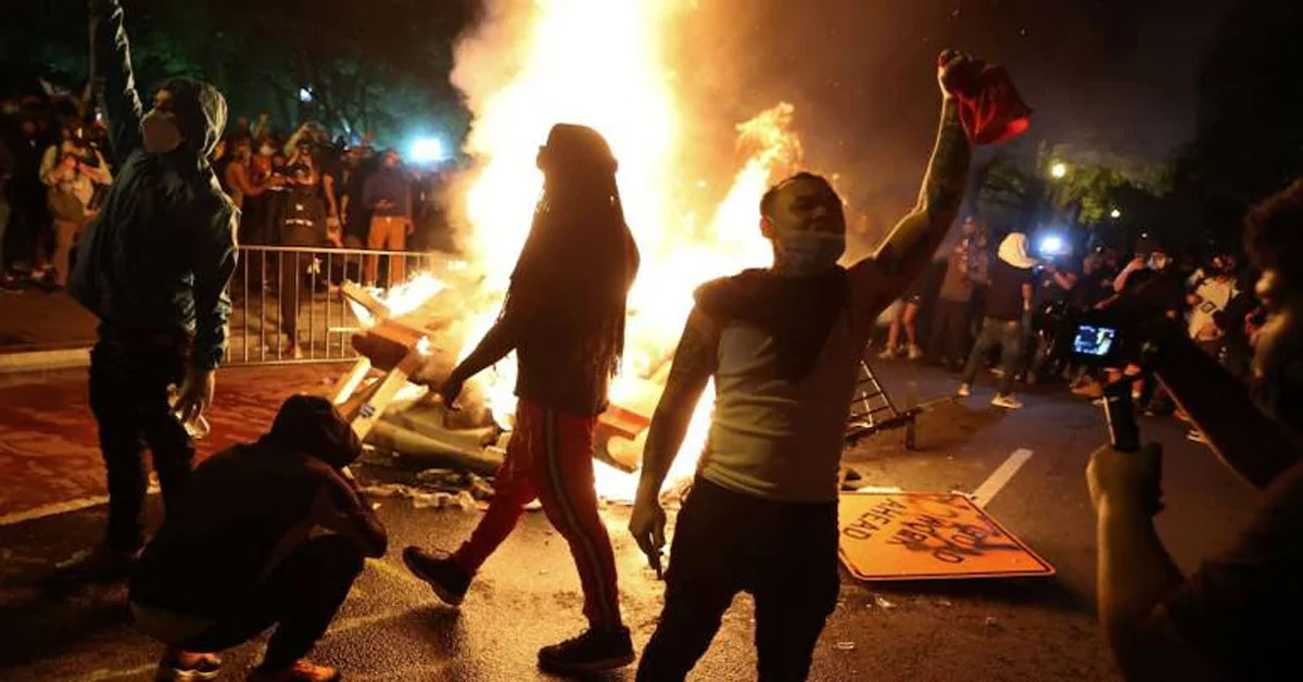 Violent protests engulf US