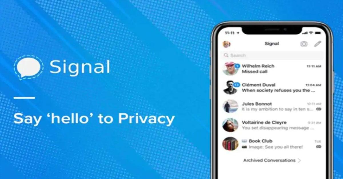 Signal app goes down amid peak user traffic