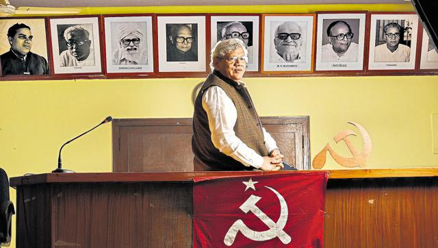 NationalNewsPolitics & Society Yechury condemns demolition of Ambedkar Bhavan in Dadar