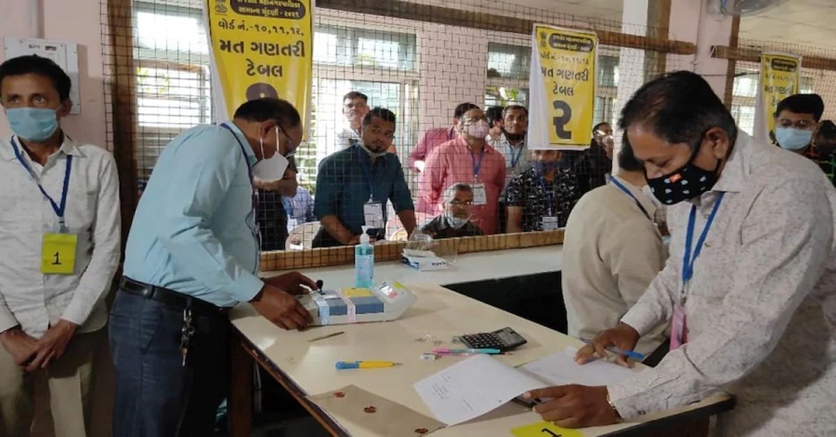 Big Lead For BJP As Votes Counted For Gujarat Urban Civic Body Polls