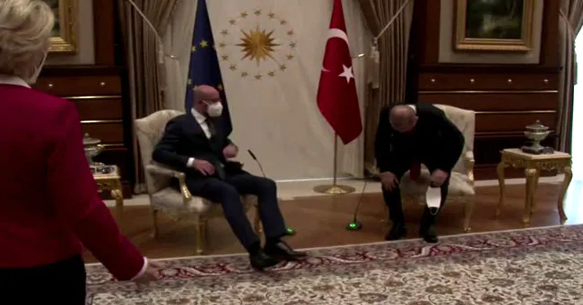 Video: EU President, Only Woman In Meet, Left Standing, Then Takes Sofa