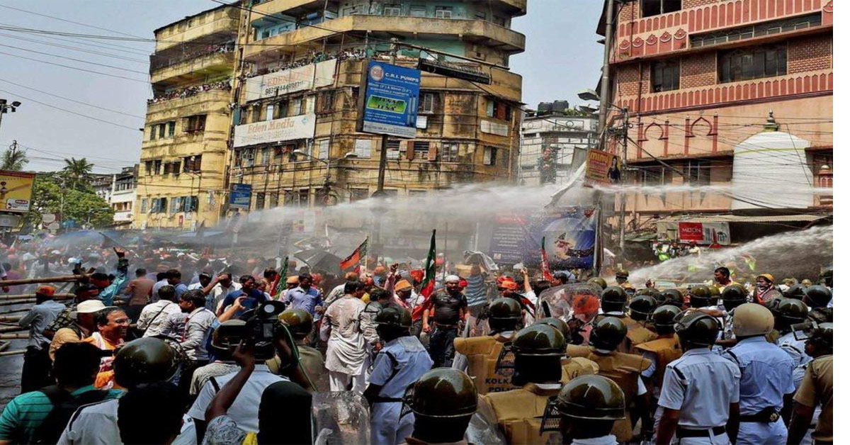 BJP March To Mamata Banerjee's Office Stopped, Police Use Tear Gas