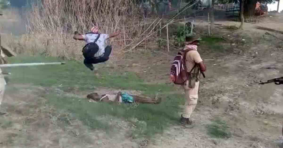 Assam eviction drive: Protester stomped on as police watch