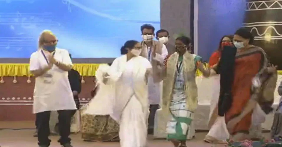 Watch: Mamata Banerjee Breaks Into Dance, Then A Dig At BJP