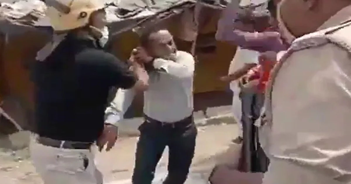 Watch: IAS Officer Thrashes Journalist In Public During UP Local Polls