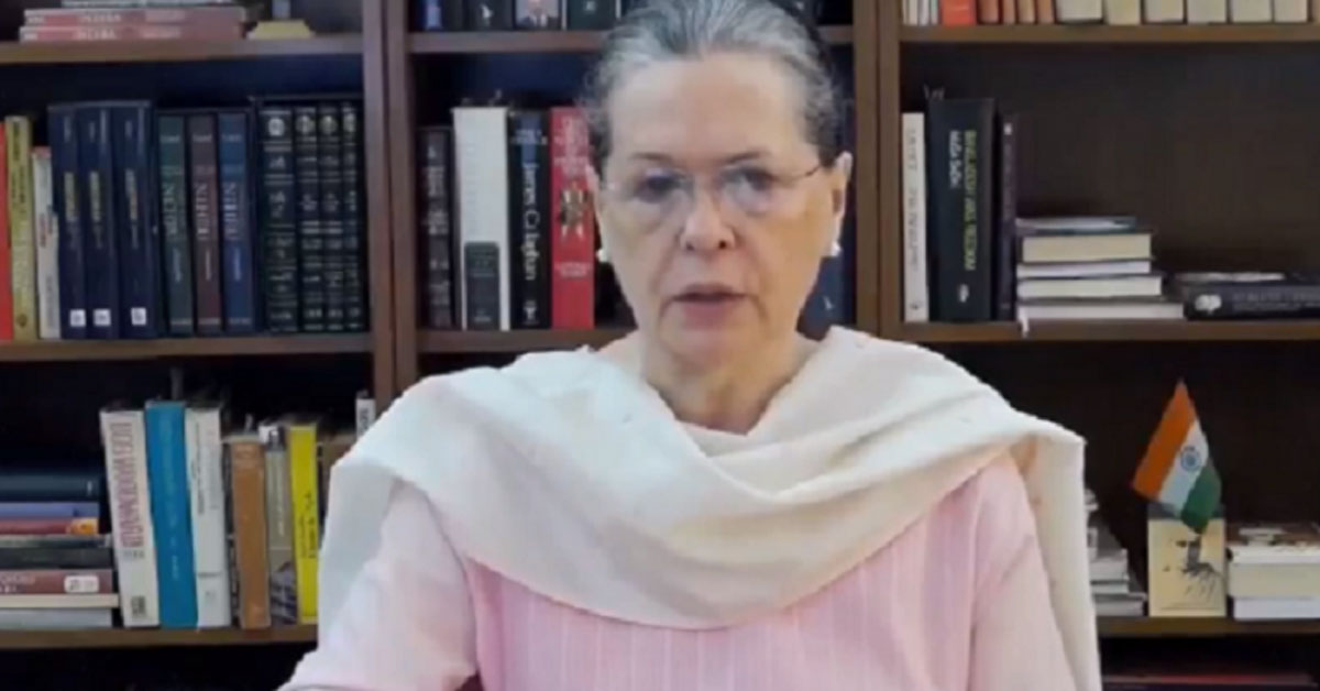 Sonia asks Centre to unlock coffers to help needy