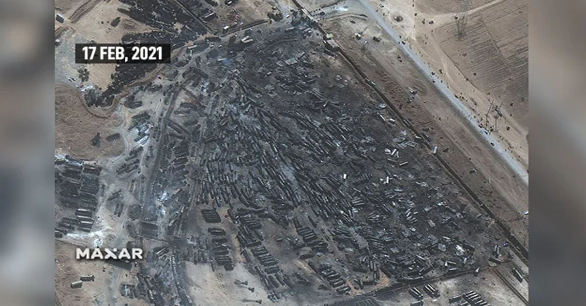 Satellite Pics Show 500 Oil Tankers Destroyed On Afghanistan-Iran Border