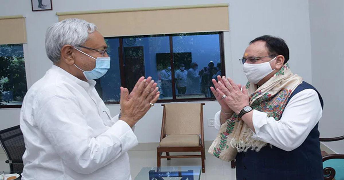 Nitish and Nadda hold seat-sharing talks for Bihar polls