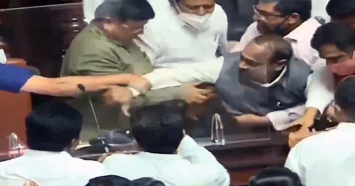 Karnataka Video Shows Senior Politician Dragged, Removed By Congressmen