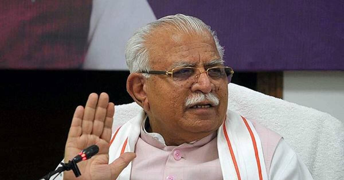 Khattar accuses Congress of hatching Pegasus controversy