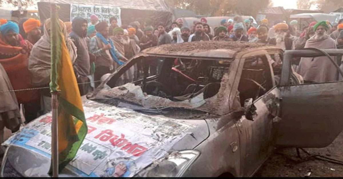 Man Who Volunteered At Farmers' Protest Burnt Alive As Car Catches Fire