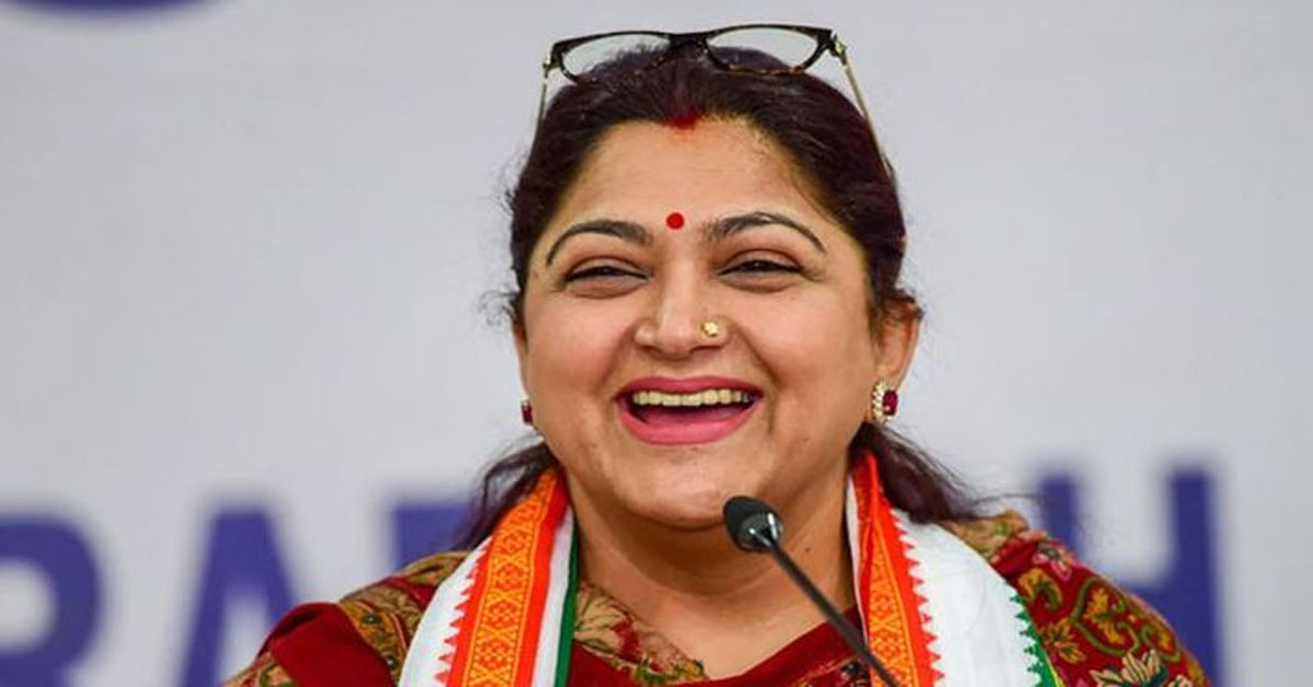 Khushbu Sundar Quits Tamil Nadu Congress; Likely To Join BJP, Say Sources