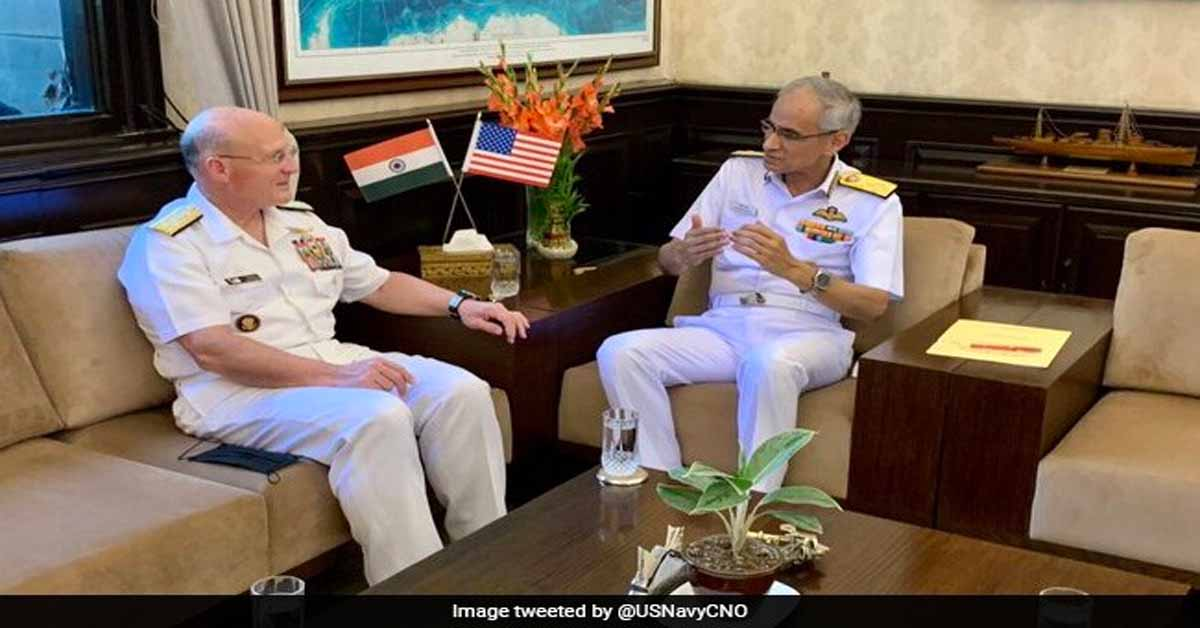 Top US Naval Commander, Indian Navy Chief Discuss Martime Security